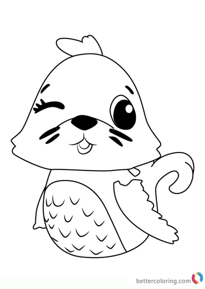Polar Sealark From Hatchimals Coloring Pages
