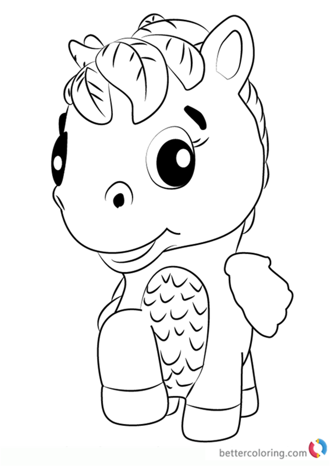 hatchimals coloring pages - ponette from hatchimals coloring pages free printable