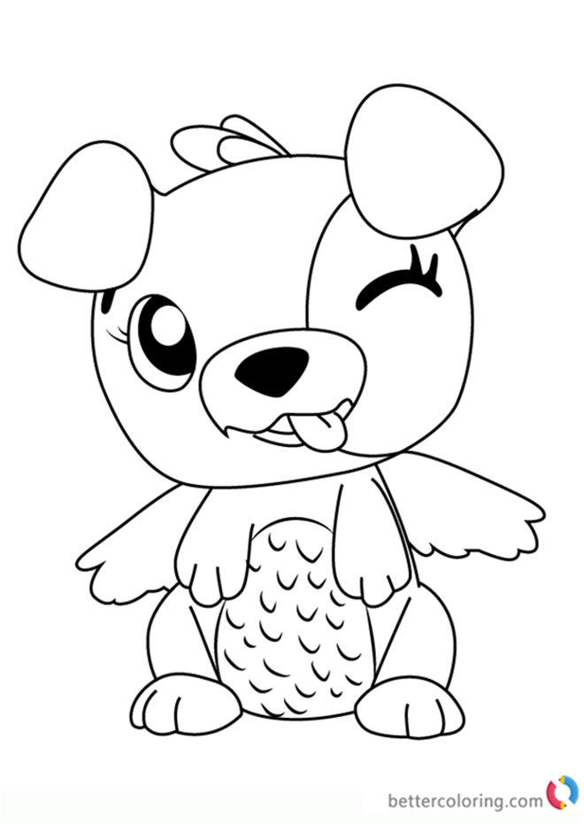 Puppit From Hatchimals Coloring Pages Free Printable