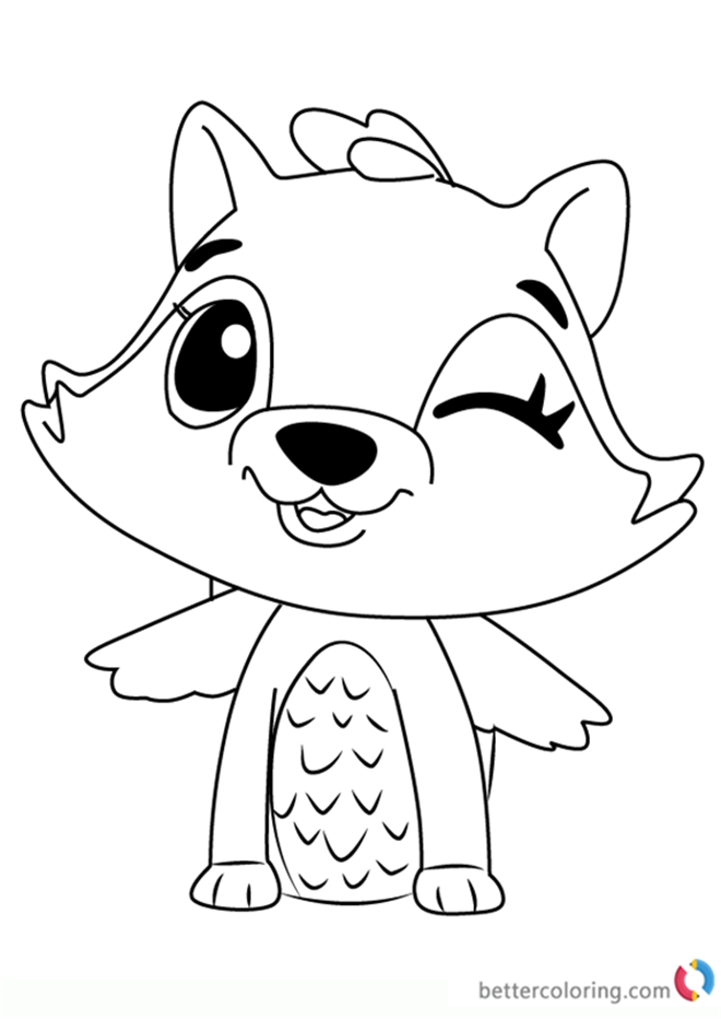 Raspoon from Hatchimals coloring pages printable