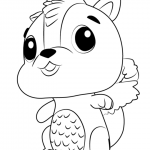 Skunkle form Hatchimals coloring pages free to print