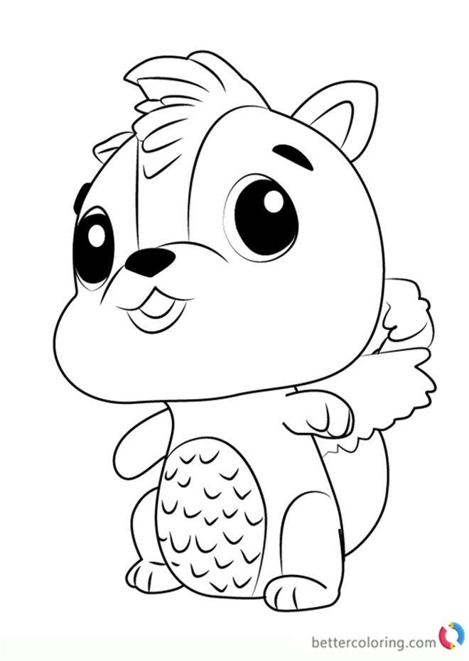 Skunkle from Hatchimals Coloring Pages Free Printable