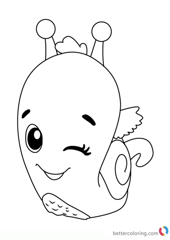 Snailtail from Hatchimals Coloring Pictures Free
