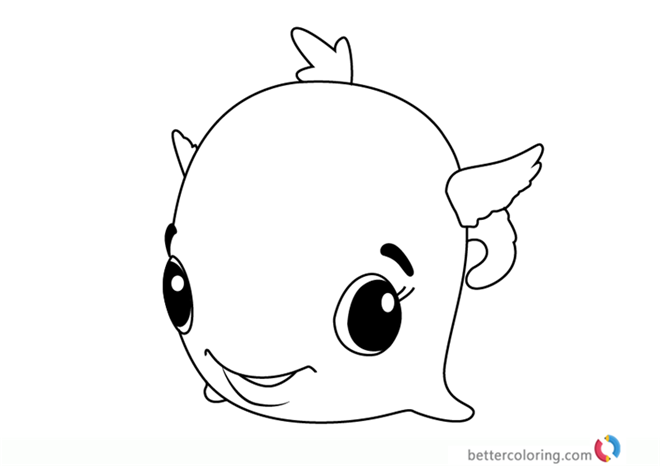 Swhale from Hatchimals coloring pages printable