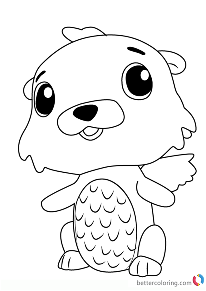 Otter Kleurplaat Swotter From Hatchimals Coloring Pages Free Printable