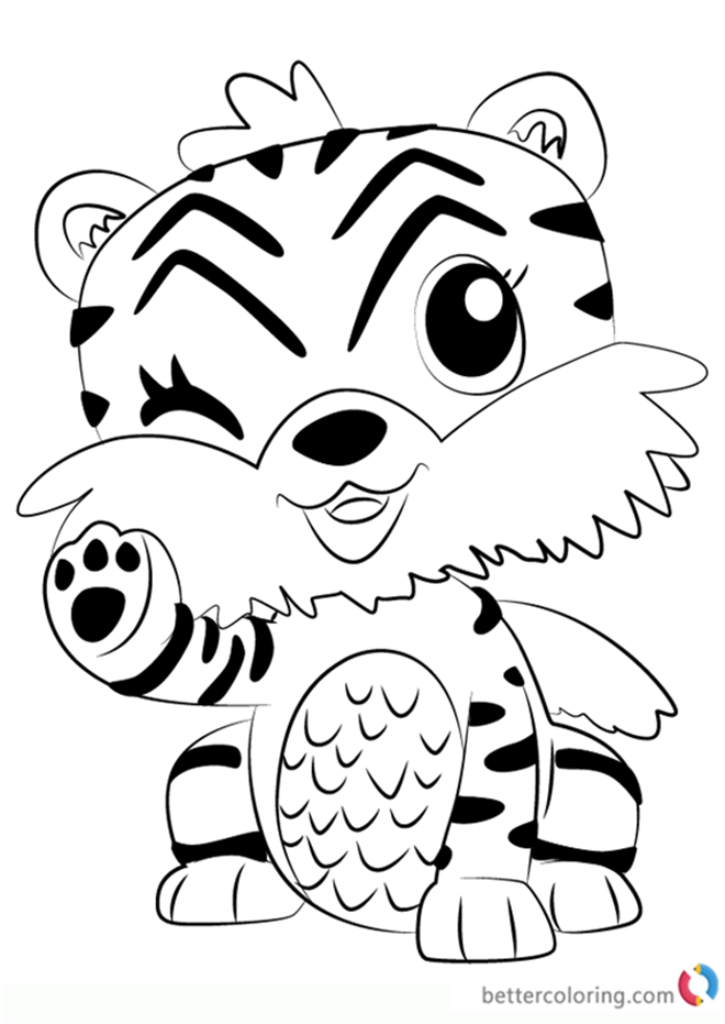 Tigrette from Hatchimals coloring pages printable