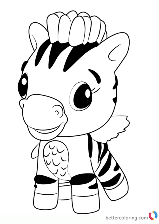 Zebrush from Hatchimals Coloring Pages Free Printable