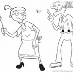 Hey Arnold Coloring Pages Grandma Pookie and Grandpa Phil