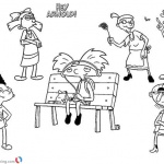 Hey Arnold Coloring Pages Enjoy Music
