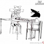Hey Arnold coloring pages playing chess