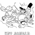 Hey Arnold Coloring Pages they fell down