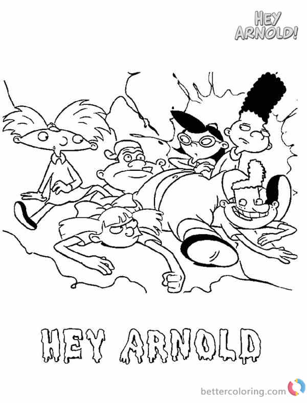 Hey Arnold Coloring Pages They Fell Down printable