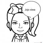 Jojo Siwa Coloring Pages Cute Simle