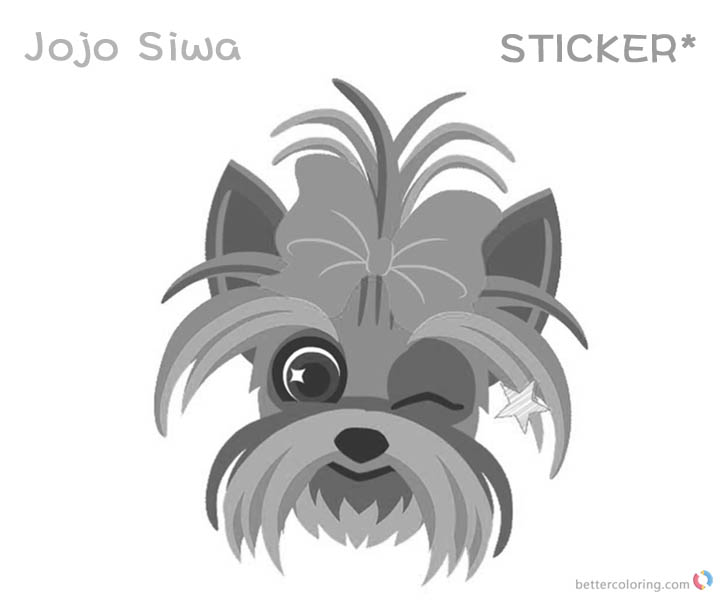 Jojo Siwa Coloring Pages Cute Sticker Free Printable