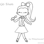 Jojo Siwa Coloring Pages Fan Art Jojo Singing
