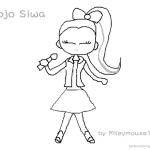 Jojo Siwa Coloring Pages Fan Art Jojo Singing