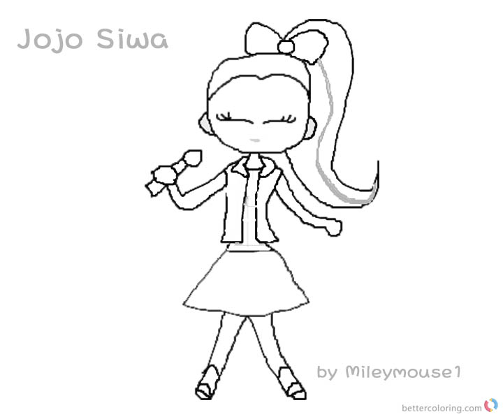 Jojo Siwa Coloring Pages Fan Art Jojo Siwa Singing Free Printable