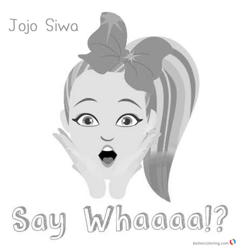 Jojo Siwa Coloring Pages Jojo Say Whaaaa - Free Printable ...