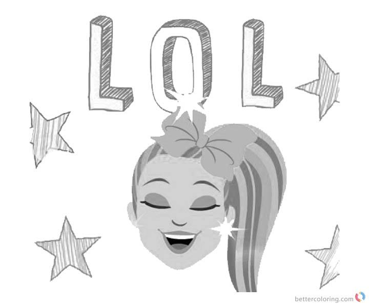Jojo Siwa Coloring Pages LOL with Stars Free Printable