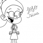 Jojo Siwa Coloring Pages in the loud house style