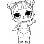LOL Surprise Doll Coloring Pages Baby Cat