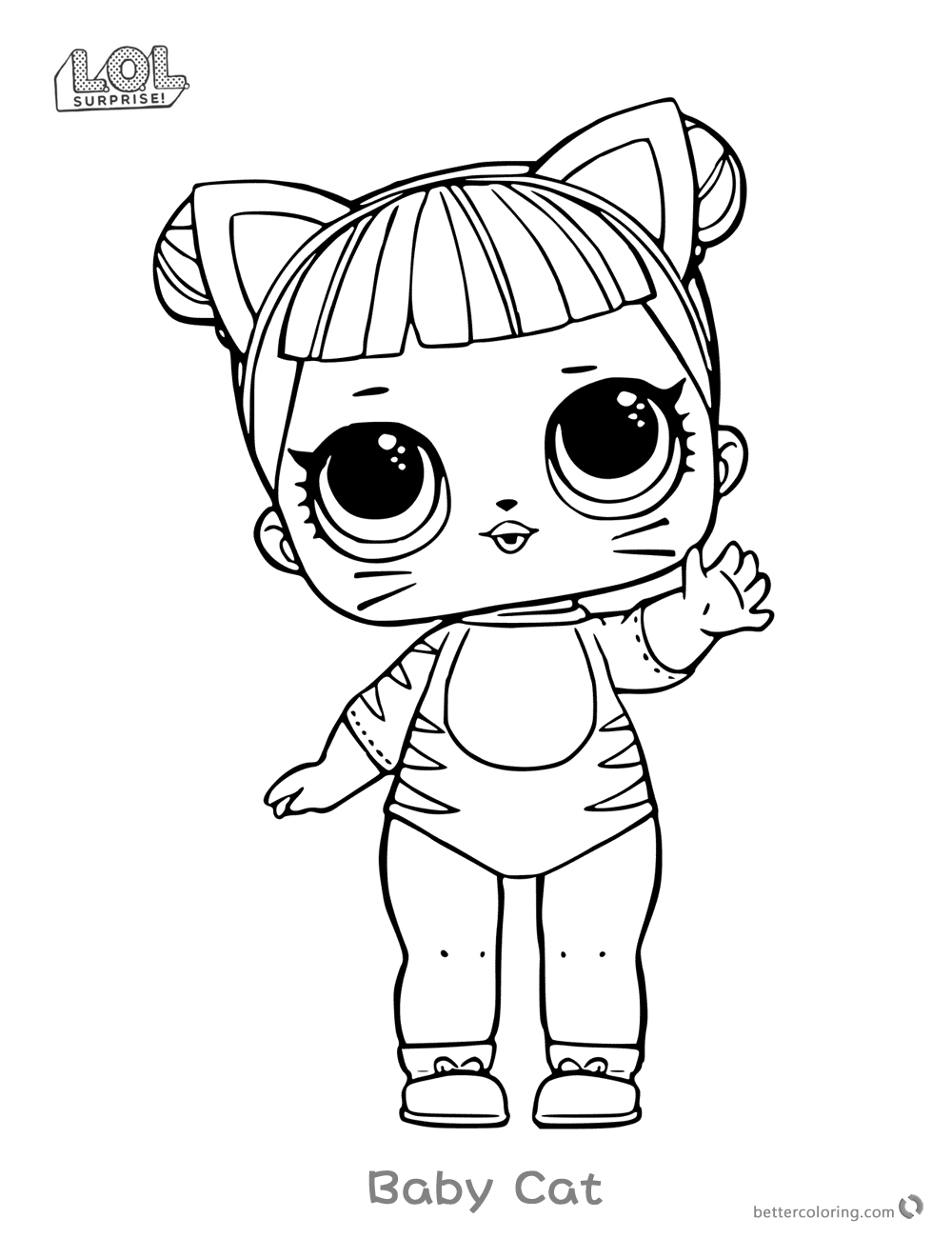 lol doll coloring pages series 1 baby cat free