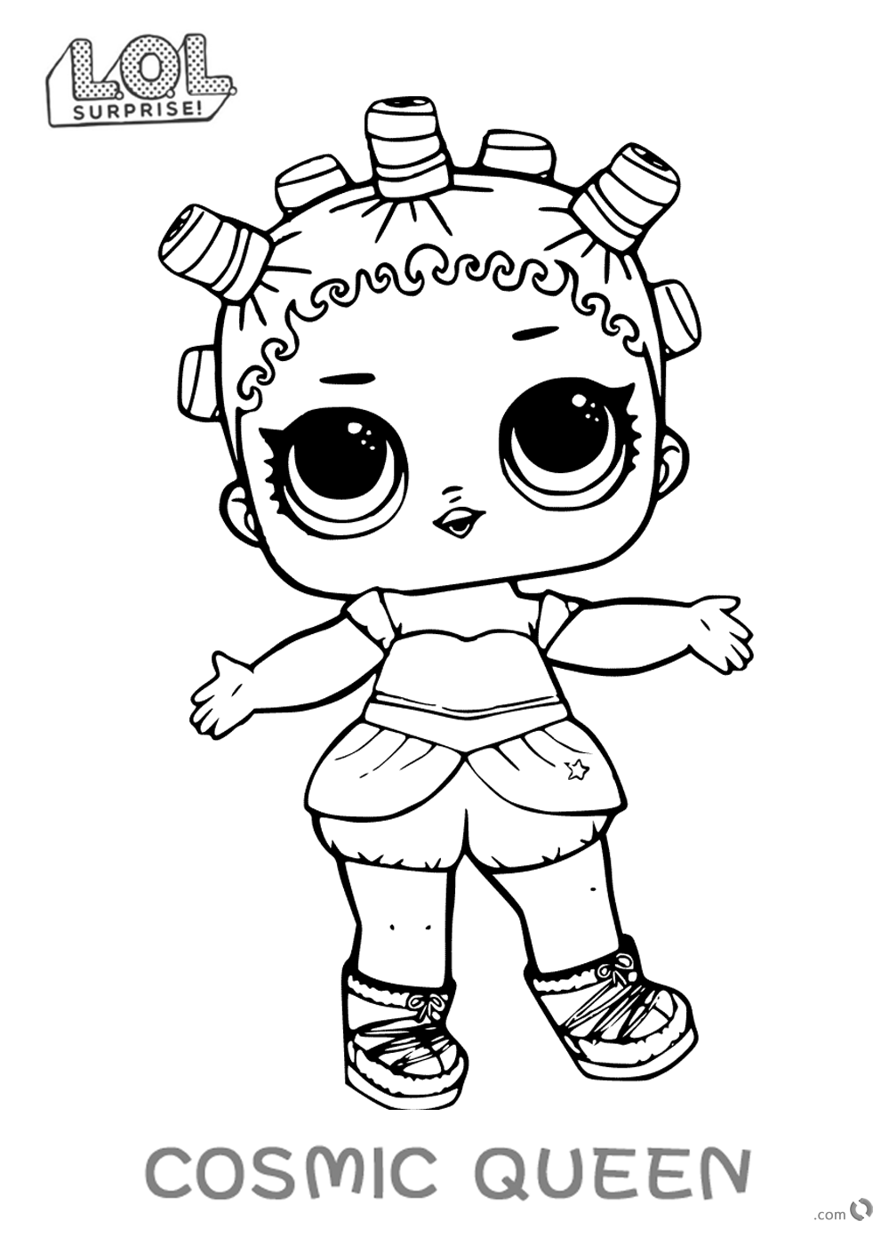 LOL Surprise Doll Coloring Pages Cosmic Queen printable
