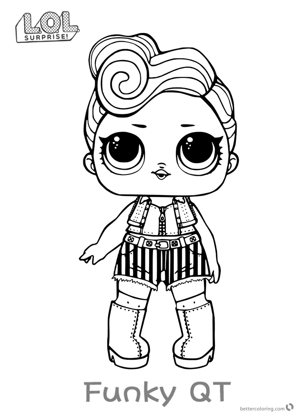 LOL Surprise Doll Coloring Pages Funky QT printable
