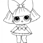 LOL Surprise Doll Coloring Pages Glitter Queen