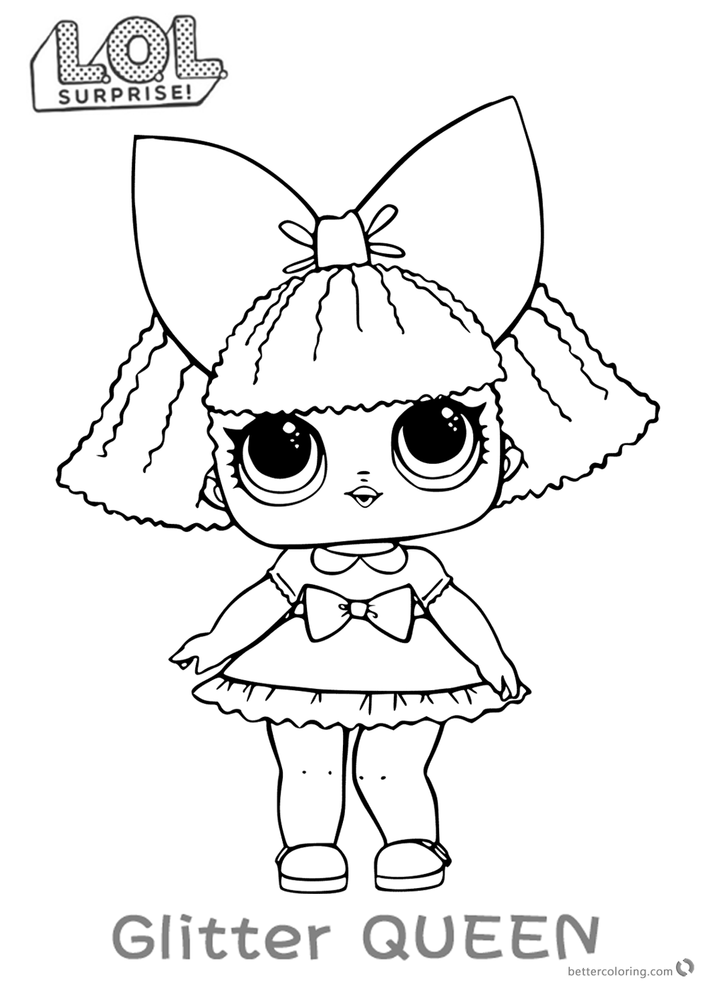LOL Surprise Doll Coloring Pages Glitter Queen Free