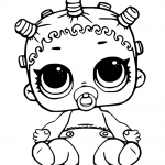 LOL Surprise Doll Coloring Pages Lil Roller Sk8ter