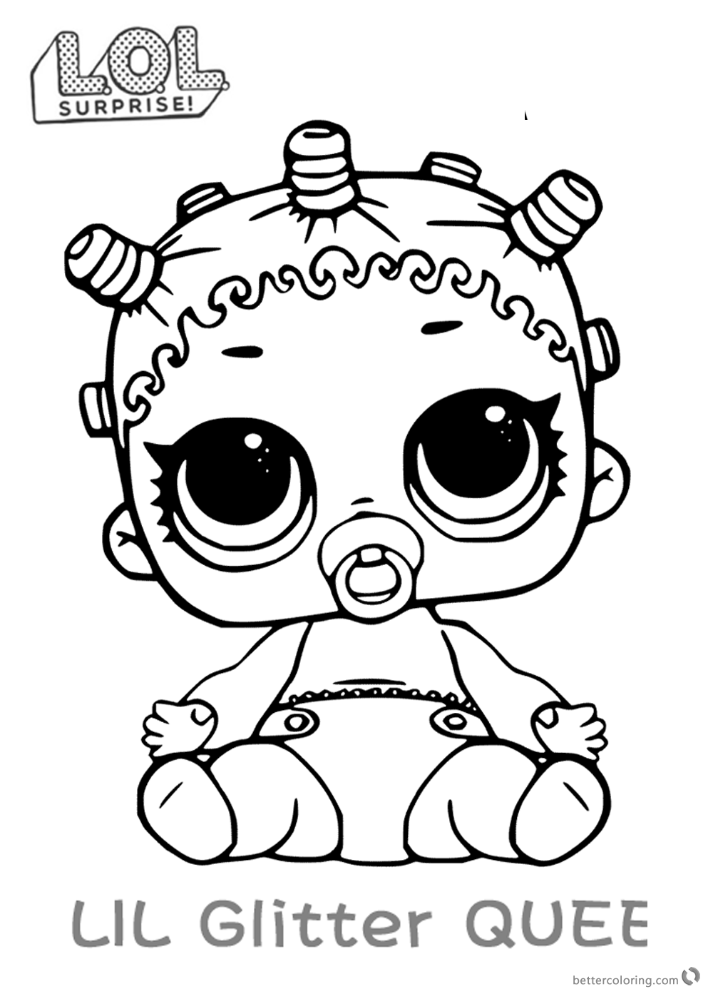 LOL Surprise Doll Coloring Pages Lil Roller Sk8ter - Free ...