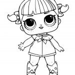 LOL Surprise Doll Coloring Pages Line Dancer