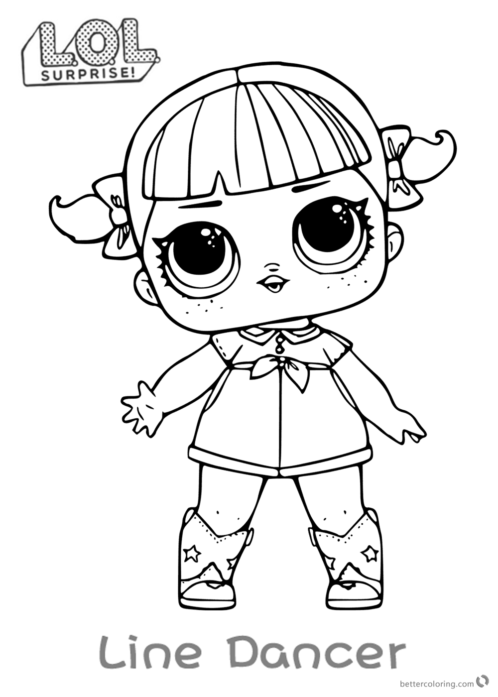 Lol Surprise Doll Coloring Pages Line Dancer Free