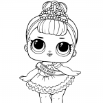 LOL Surprise Doll Coloring Pages Miss Baby