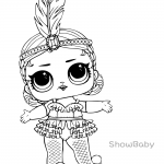 LOL Surprise Doll Coloring Pages Showbaby