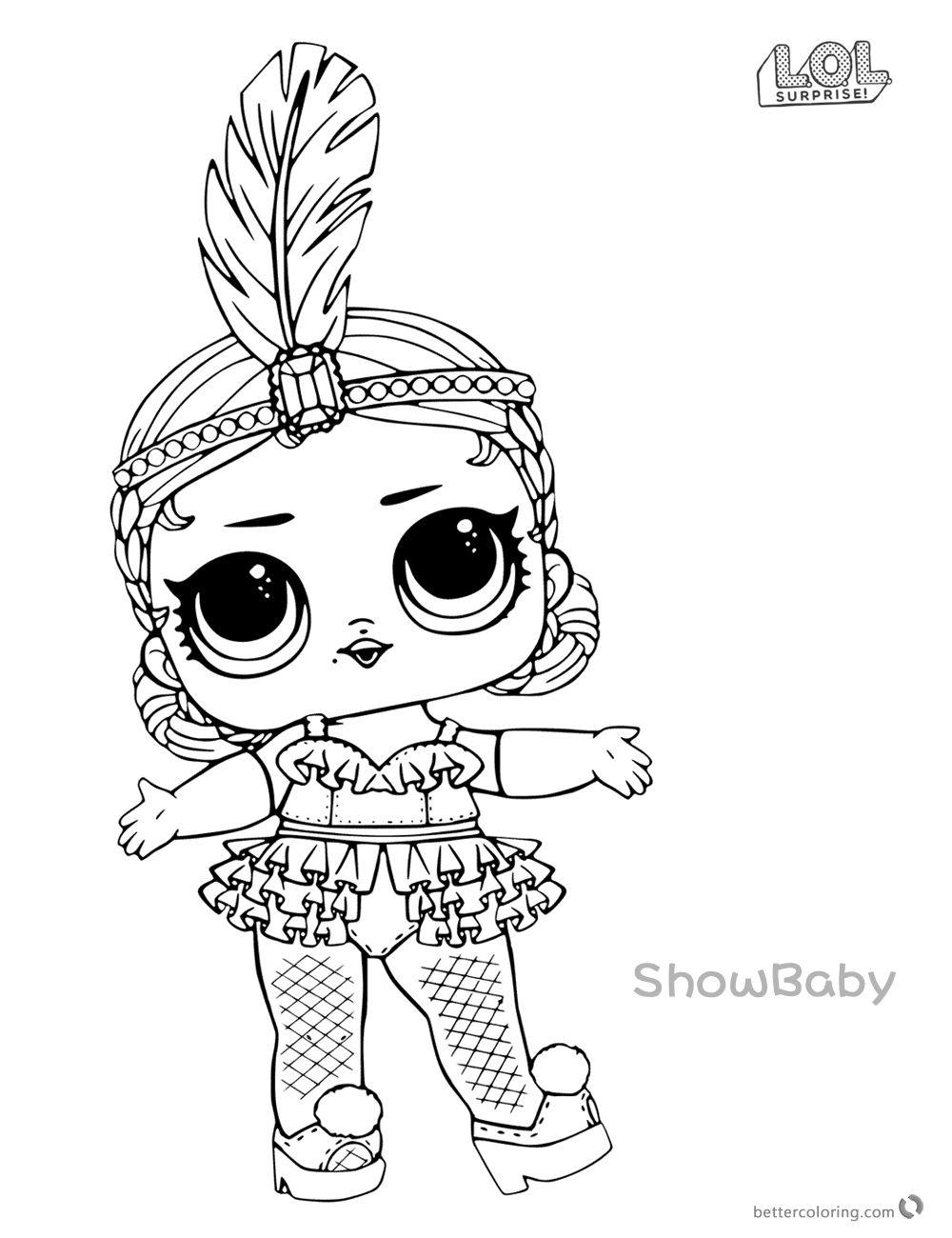 baylee jae coloring sheets lol surprise doll coloring pages showbaby free printable