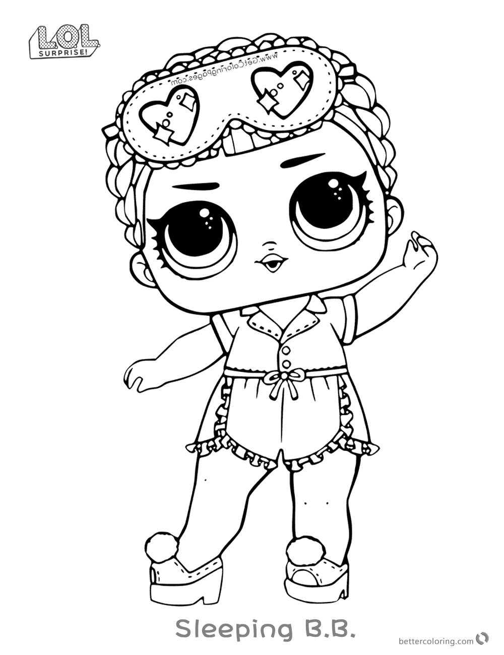 Lol Surprise Doll Coloring Pages Sleeping B B Free Printable