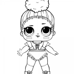 LOL Surprise Doll Coloring Pages Touchdown