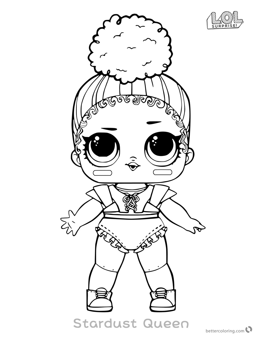 LOL Surprise Doll Coloring Pages Touchdown printable