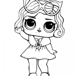 Leading Baby from LOL Surprise Doll Coloring Pages