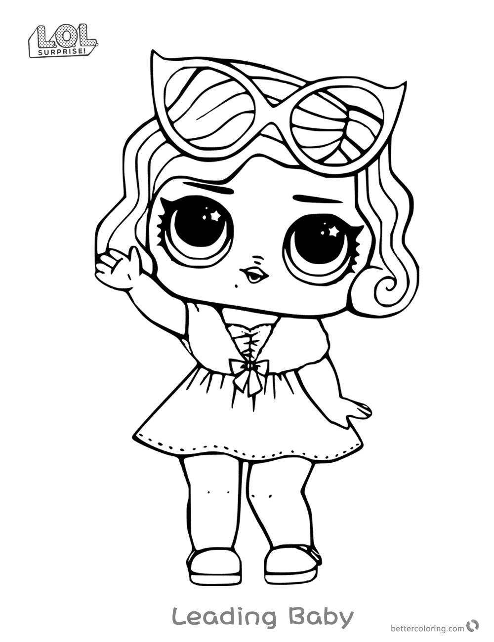 This is a picture of Gargantuan Lol Surprise Doll Coloring Pages Printable