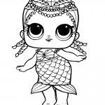 Mermaid LOL Surprise Doll Coloring Pages Merbaby