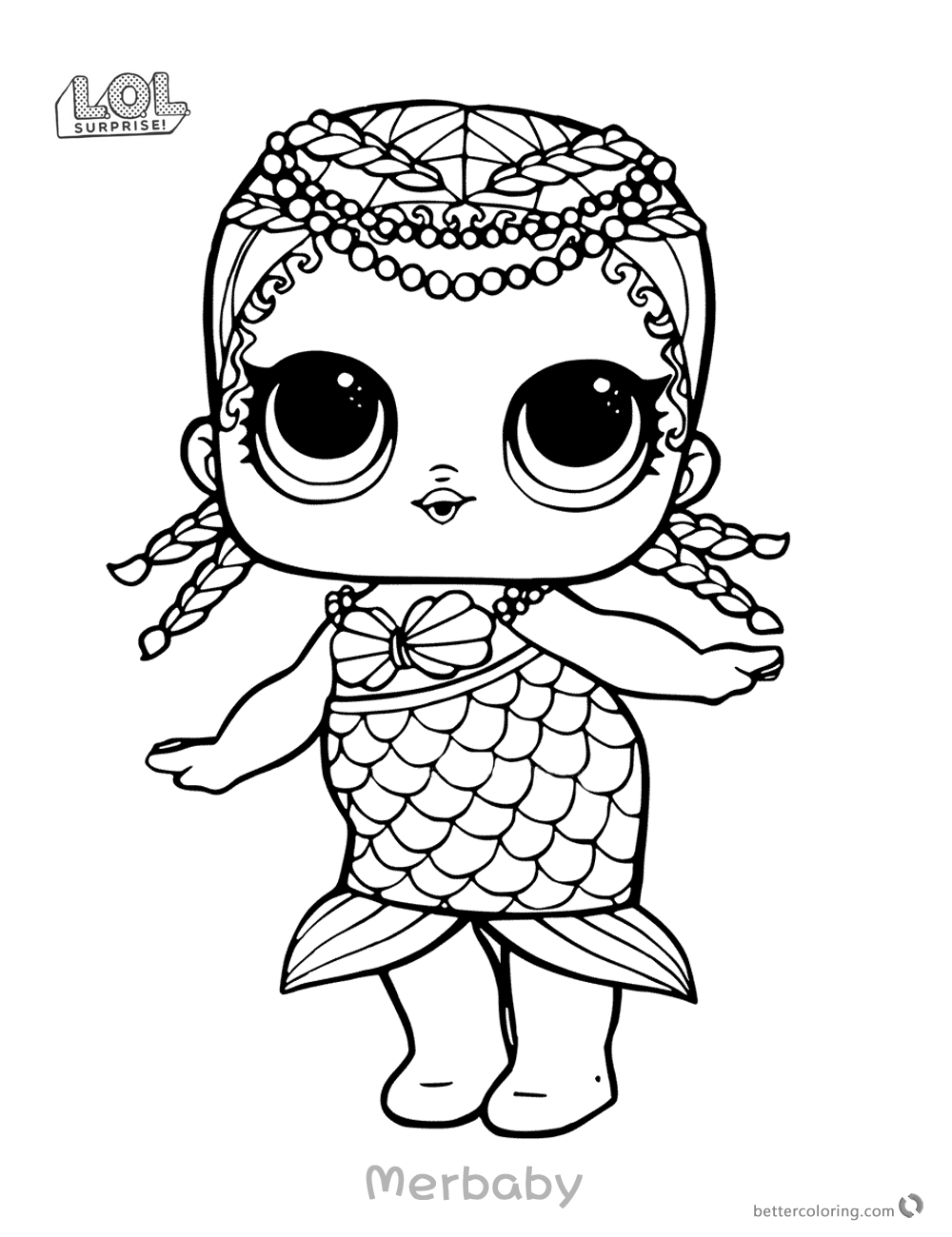 Mermaid LOL Surprise Doll Coloring