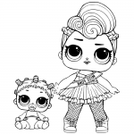 Miss Punk LOL Surprise Doll Coloring Pages