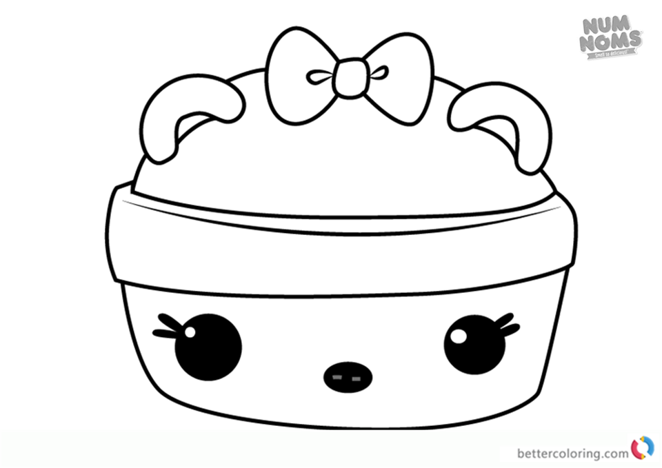 Num Noms Coloring Pages Series 3 Grapple Gloss Up Free Printable Coloring Pages