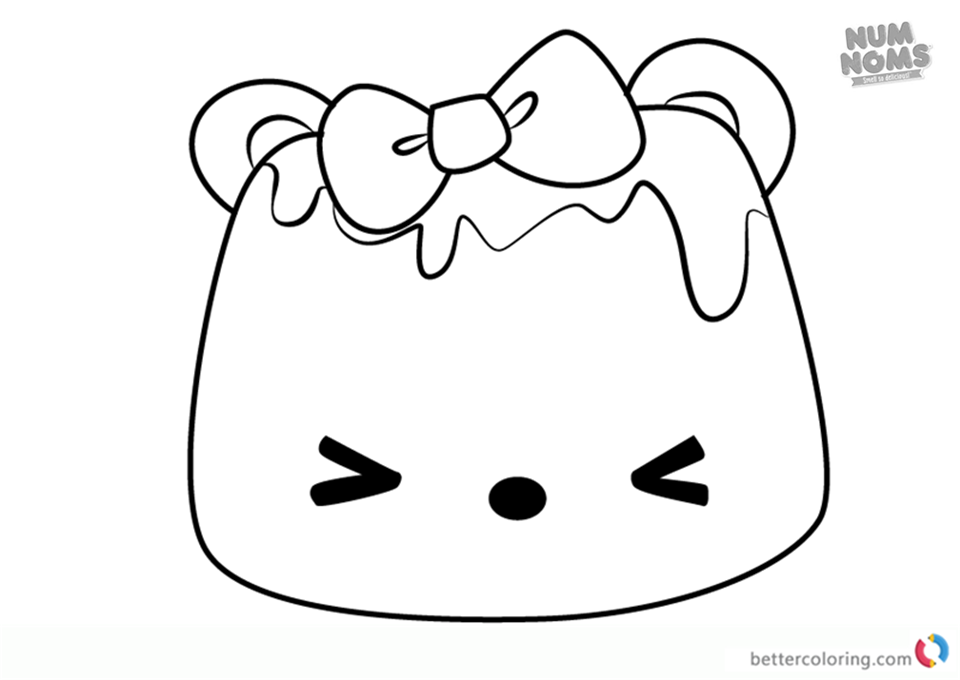 Icy Berry Go-Go from Num Noms coloring pages printable