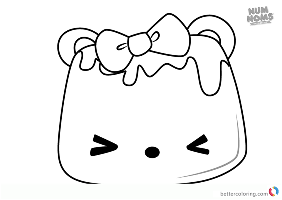 Icy Peach Go-Go from Num Noms coloring pages printable