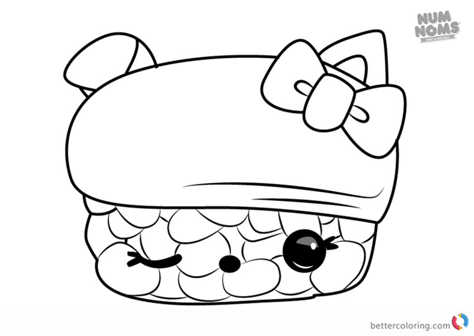 Num noms coloring pages series 2 ina ree free printable for Num noms coloring pages free