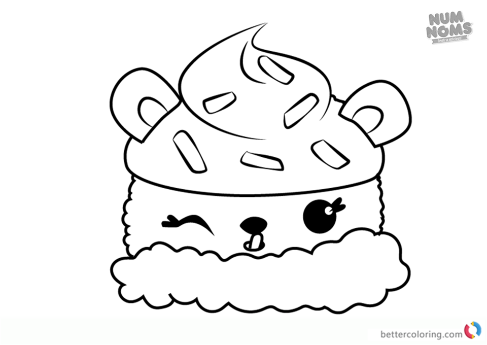 Num Noms Coloring Pages Series 2 Lemony Cream Free Printable